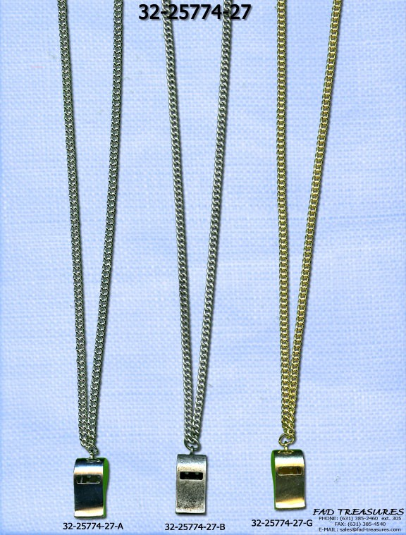 Assorted Chain With Whistle Necklace