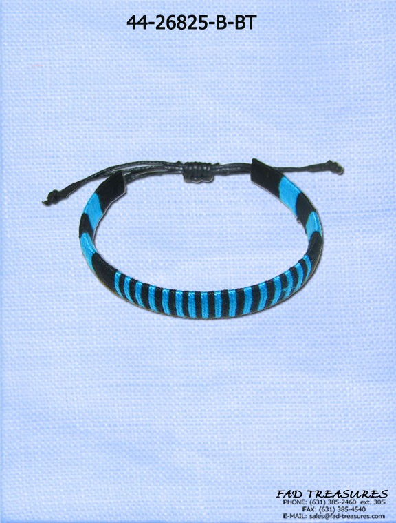 Blue Stripe Pattern Bracelet