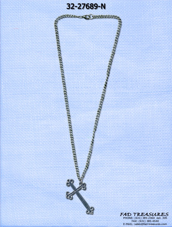 Side Hanging Detail Cross Necklace
