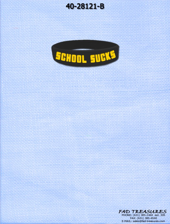 Silicone School Sucks Bracelet