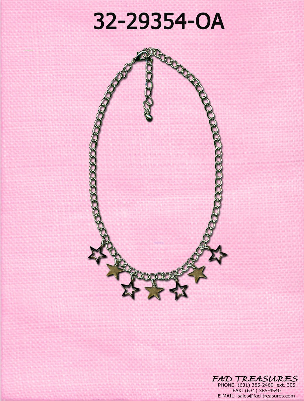 Multi Dangle Stars Anklet