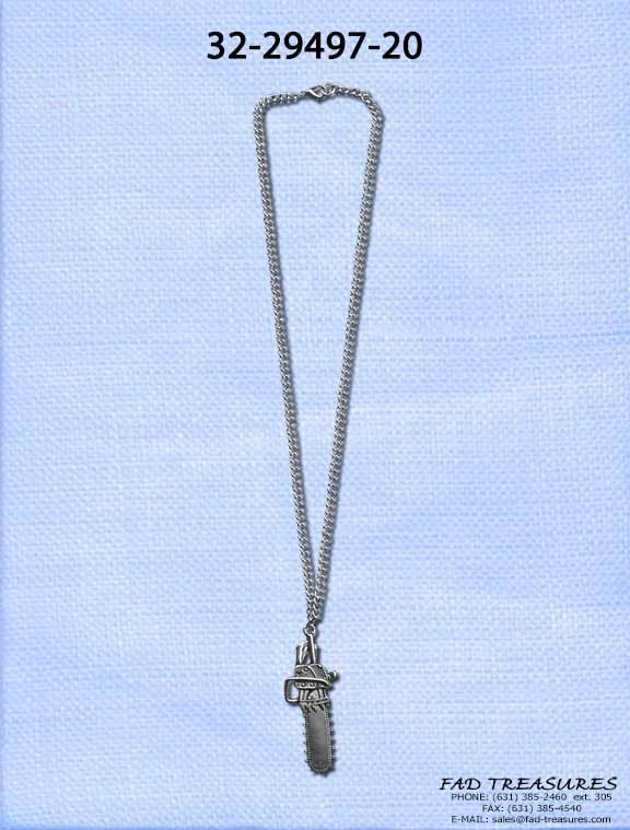 Chainsaw Curb Chain Necklace