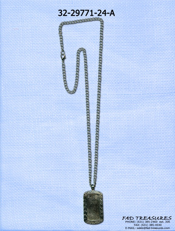Picture Frame Dogtag Chain Necklace