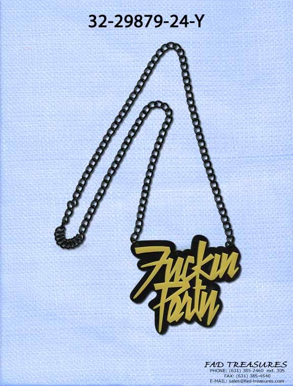 Lmafo Fuckin Party Necklace