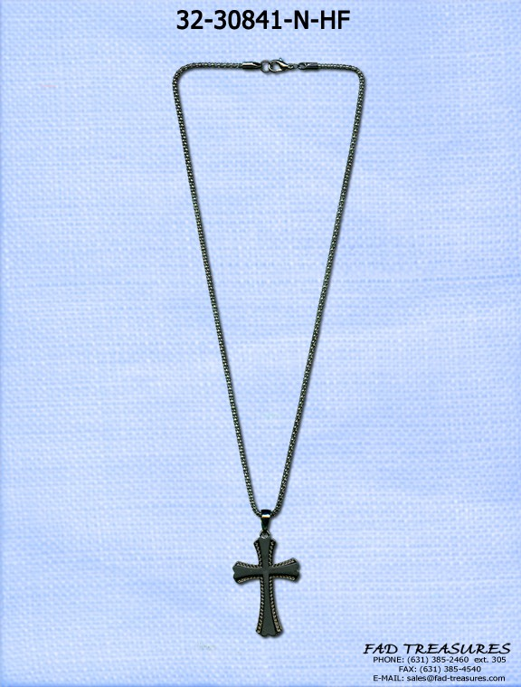 Snake Chain & 2 Layer Flat Cross Necklace