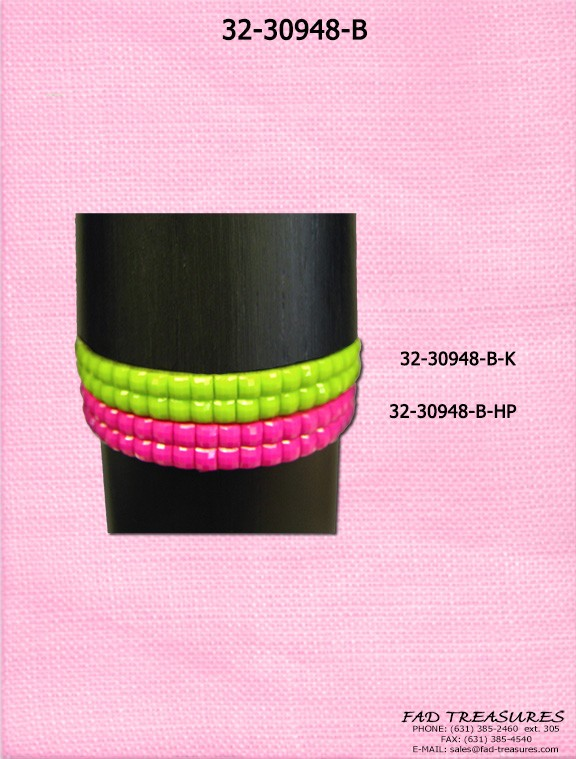 Square Facet Bead Bracelet