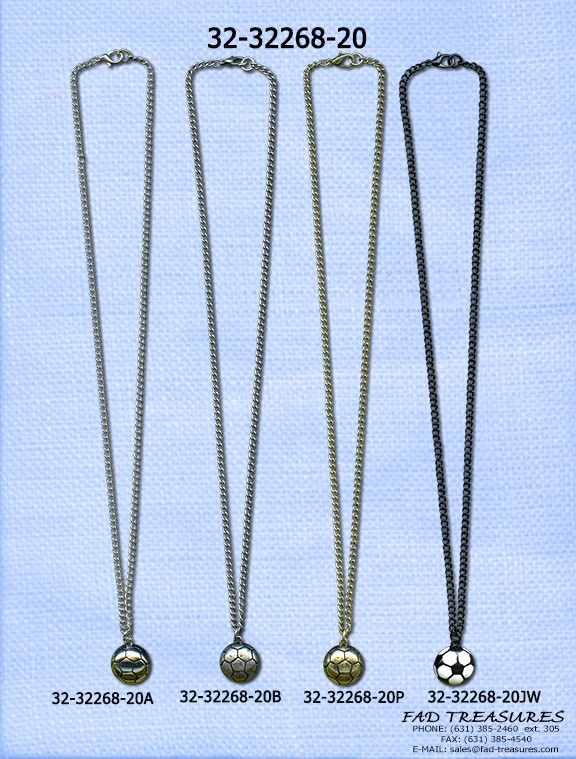 Assorted Chain With Soccer Ball Necklace