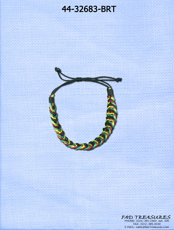 Braided Thread Rasta Bracelet