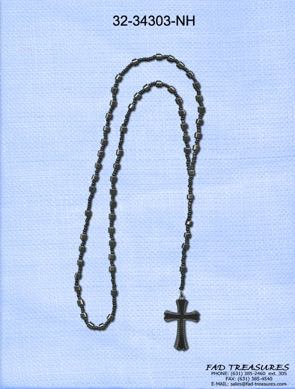 Rosary Metal Tubes Necklace