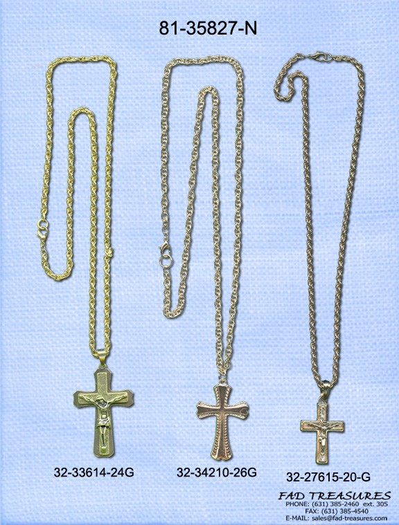 Crosses & Crucifix Gold Chain Necklace