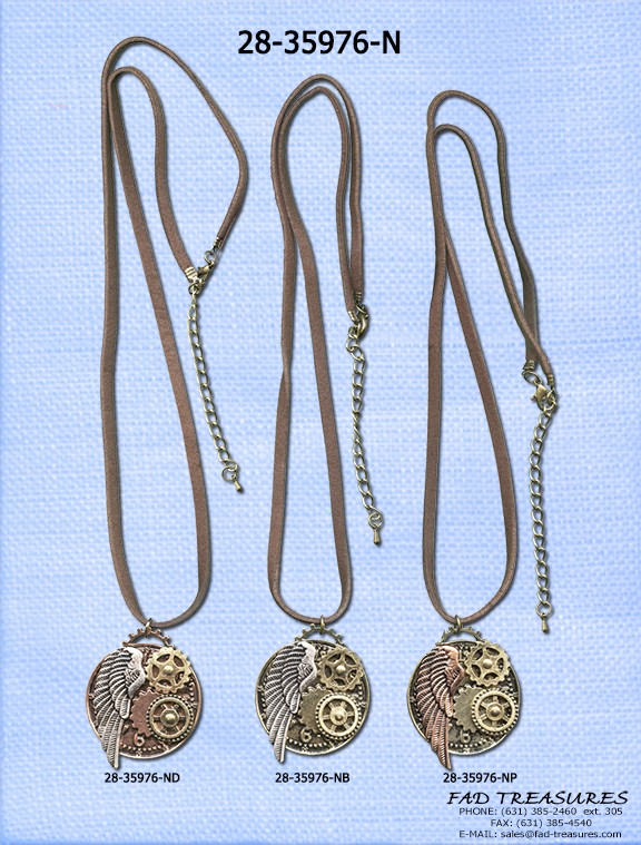 Gears & Wing Necklace