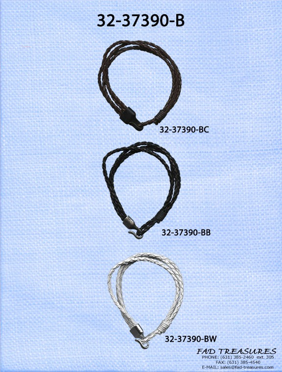Assorted Leather Knots With Hook And Hoop