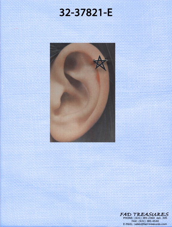 Assorted 5 Point Star Ear Cuff