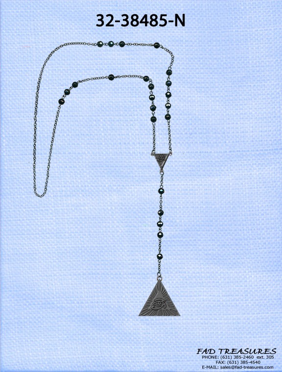 Rosary Beads With Pyramid Egyption Eye