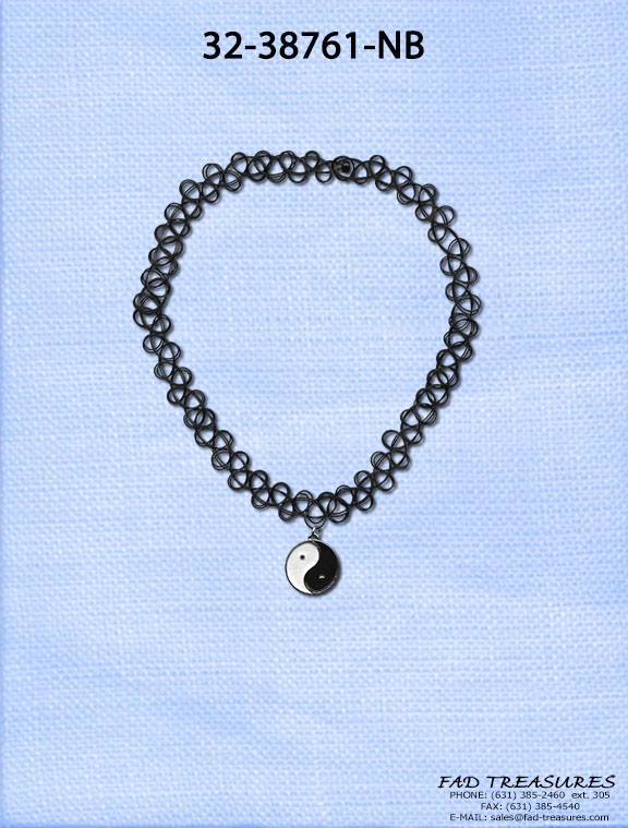 YIN YANG CHARM TATTOO NECKLACE