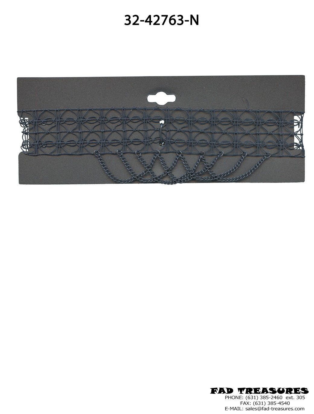 Lace Black Chain Choker
