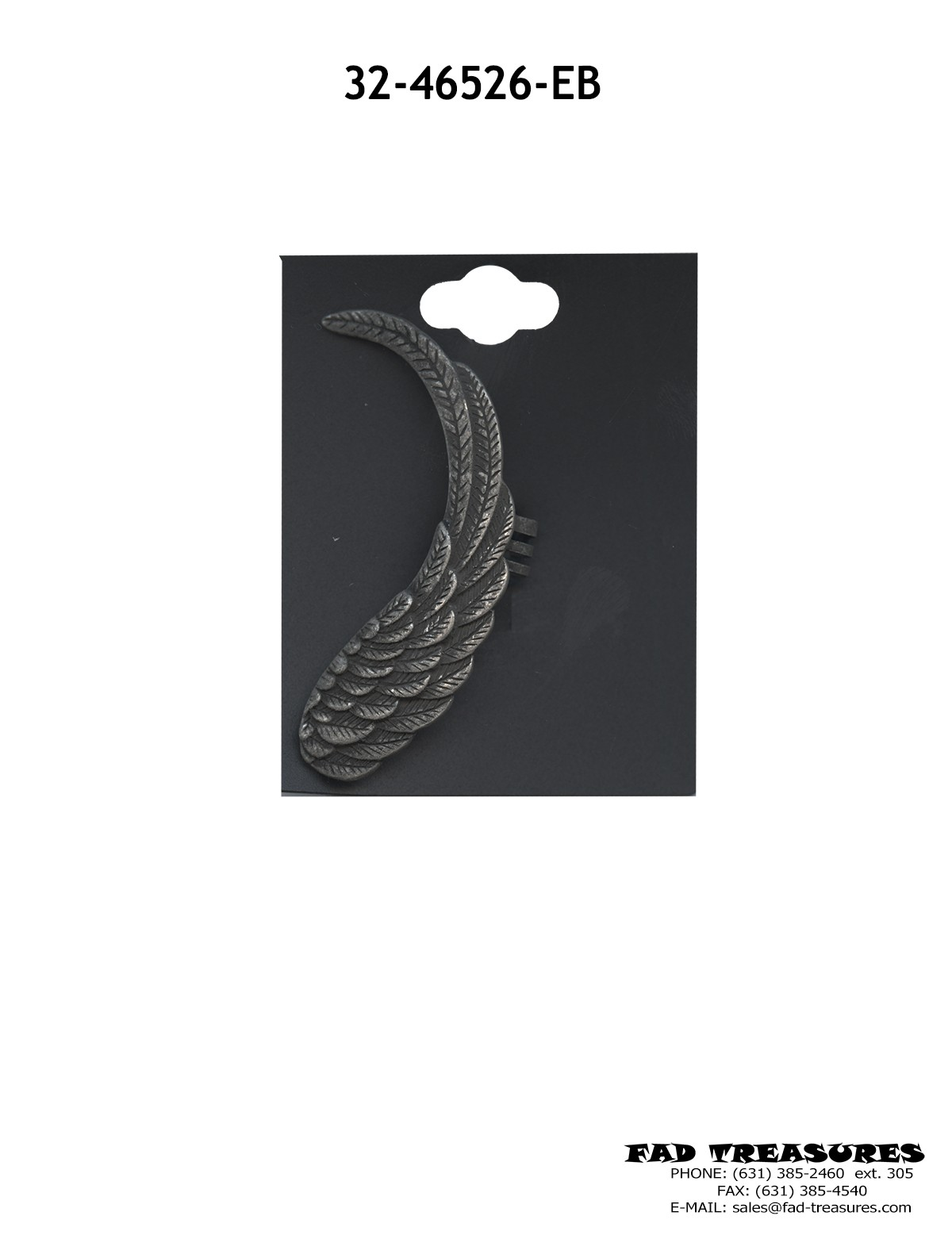 Burnish Silver Angel Wing Ear Cuff