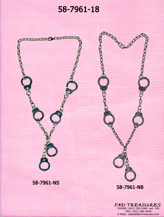Large Handcuff Dangle Necklace