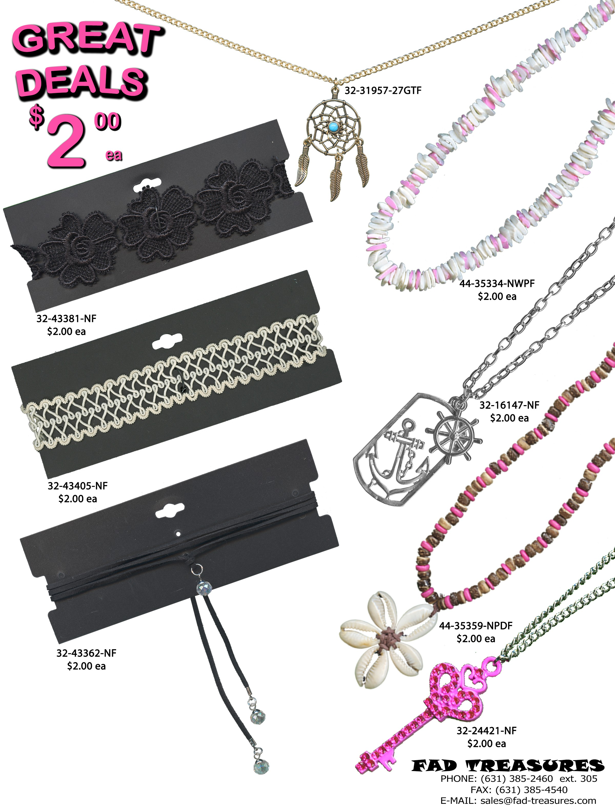 $2 GREAT DEALS Girls Necklaces