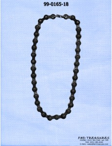 Black Bike Chain Necklace