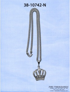 Large Bling Crown Necklace