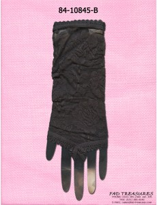 Black One Finger Lace Flower Glove