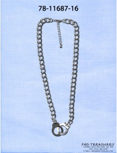 Tight Curb Chain With Handcuffs Necklace