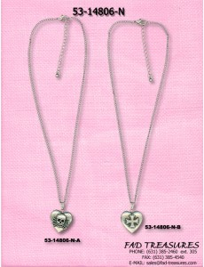 Heart With Raised Skull Or Iron Cross Necklace