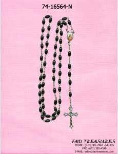 Rosary With Jesus Image & Crucifix Necklace