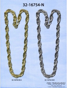 12Mm Thick Plated Rope Chain Necklace