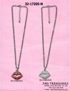 Lips With Rhinestonesnecklace