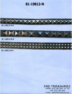 Assorted Leather Pyramid Necklace