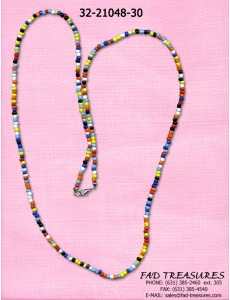 Multi Color Seed Bead Necklace