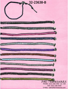 1 Row Multi Facet Bracelet (Button closure)