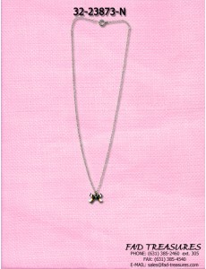 Silver Chain With Small Bow Necklace