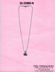 Ballchain Boom Box Charm With Stones Necklace