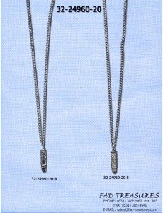 Bullet With Cross Design Necklace