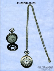Antique Gold Open Numbers Pocket Watch