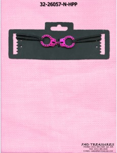 Pink Handcuff With Stones Choker