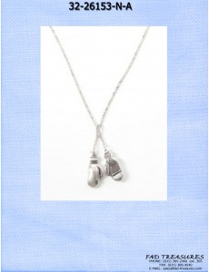 Silver Small Boxing Gloves Necklace