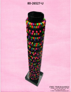 Multicolor Rave Bead Bracelet Unit