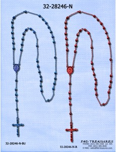 Assorted Rosary Metal Beads Necklace