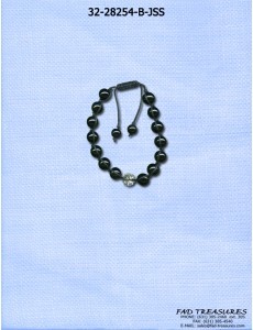 Black Shamballa Clear Bead Bracelet - Check Price