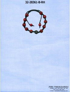 Dark Red Bead Shamballa Bracelet
