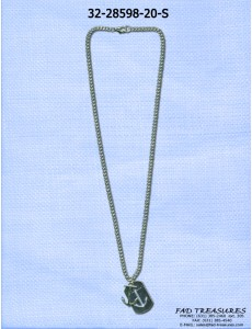 Anchor With Cutout Anchor Dogtag Necklace
