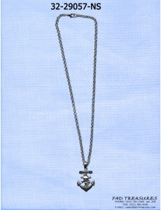 Small Skull & Anchor Necklace