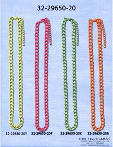 Assorted Colored Curb Chain Necklace
