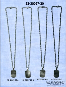 3D Cube Dog Tag Necklace