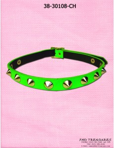 Neon Green Spike Choker