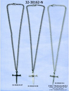 Chain With Nail Cross Necklace